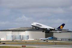 Lufthansa Luchtbus A380 Royalty-vrije Stock Afbeeldingen