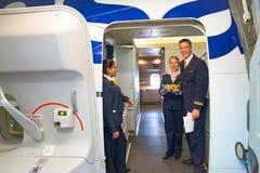 Lufthansa-Mannschaftsmitglied Stockfotos