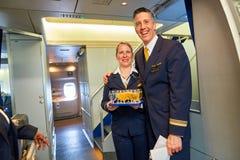 Lufthansa-Mannschaftsmitglied Stockfotografie