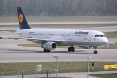 Lufthansa A321 Stock Photo