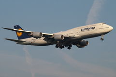 Lufthansa new B747-800 Jumbo. Lufthansa's new 800 series Boeing 747. Lufthansa is one of the biggest airlines in the world, with main base in the Frankfurt Stock Images
