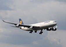 Lufthansa passenger jet airplane Stock Image