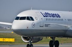 Lufthansa plane Royalty Free Stock Photos