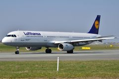 Lufthansa plane Stock Photography