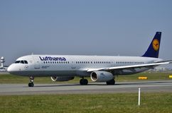 Lufthansa plane Royalty Free Stock Photography