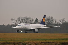 Lufthansa plane Royalty Free Stock Image
