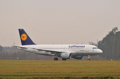 Lufthansa plane Stock Image