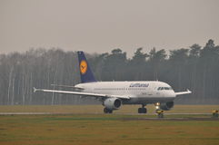 Lufthansa plane Royalty Free Stock Images