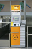 Lufthansa Quick check-in desk. At Munich Airport, Bavaria, Germany, Europe Royalty Free Stock Photography