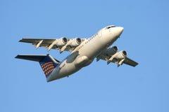 Lufthansa Regionaal Lijnvliegtuig Stock Afbeelding