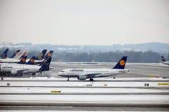 Lufthansa Schweinfurt Airbus A319-100 TÄGLICH stockfotografie