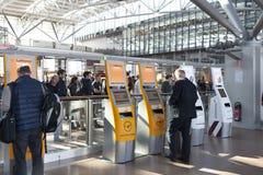Lufthansa signent Hambourg Images stock