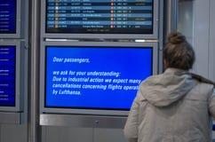 Lufthansa slår royaltyfri foto