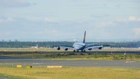 Lufthansa Superjumbo landing stock video