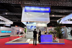 Lufthansa Technik showcasing its MRO and cabin conversion solutions at Singapore Airshow Royalty Free Stock Photos
