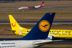 Lufthansa, TUIfly et Air Berlin Photographie stock libre de droits