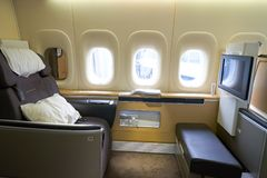 Lufthasa Boeing 747-8i Arkivbilder