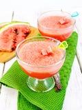 Luftig vattenmelon för gelé ombord Arkivfoto