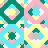 Luftiges quadratisches Muster stock abbildung