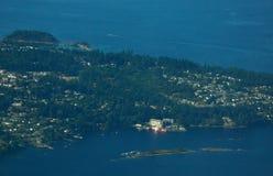 Luftinselansicht Stockfotografie