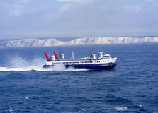 Luftkissenfahrzeug vor Dover. England stockfoto