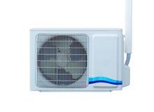 Luftkompressoren lokalisiert auf weißem Hintergrund Stockfoto