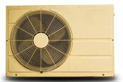 Luftkompressorn för vit metall isolerade Arkivfoto