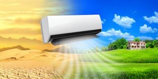 Luftkonditioneringsapparat. Bekvämt liv Royaltyfri Foto