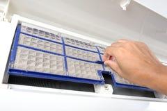 Luftkonditioneringsapparatfilter Fotografering för Bildbyråer