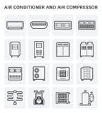 Luftkonditioneringsapparatsymbol vektor illustrationer