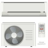 Luftkonditioneringsapparatsystemuppsättning Royaltyfria Foton