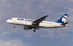 LuftKorsika flygbuss A320 Fotografering för Bildbyråer
