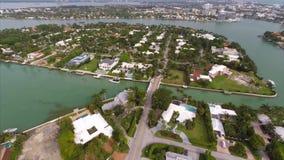 Luftla Gorce-Insel-Nachbarschaften Miami Beach stock video