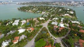 Luftla Gorce-Nachbarschaften Miami stock footage