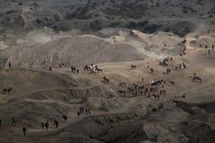 Luftlandschaft des Bergs Bromo, Indonesien Stockbilder