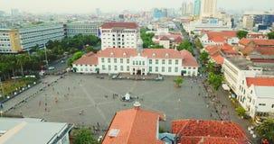 Luftlandschaft des Jakarta-Geschichtsmuseums stock footage