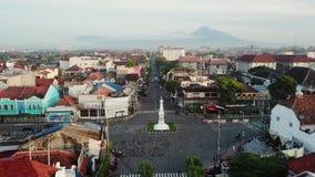 Luftlandschaft historischen Jogja-Monuments stock video