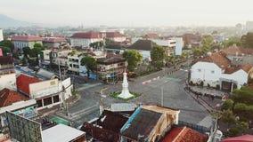 Luftlandschaft historischen Yogyakarta-Monuments stock video footage