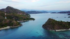 Luftlandschaft von Flores-Inselarchipel stock footage