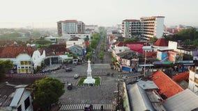 Luftlandschaft von Jogja-Monument stock video footage