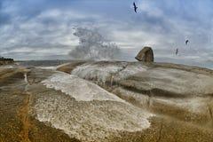 Luftloch Tasmaniens Bicheno Lizenzfreie Stockfotografie