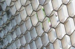 Luftlufthål i väggarna, cement arkivbild