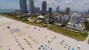 Luftmiami beach-Überführung rückwärts stock video footage