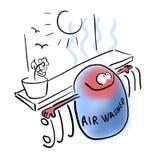 Luftpackning nära ett element stock illustrationer