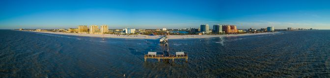 Luftpanorama Clearwater-Strand Pier Florida stockbild