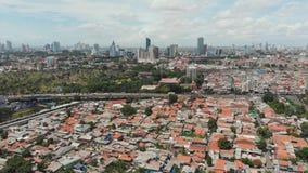 Luftpanorama der Stadtrände der Stadt von Jakarta indonesien stock video