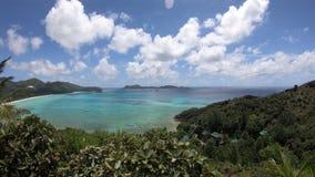 Luftpanorama Praslin Seychellen stock footage