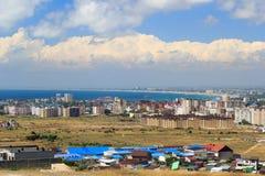 Luftpanorama von Anapa-Urlaubsstadt, Russland Stockbild