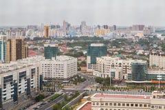 Luftpanorama von Astana lizenzfreies stockfoto