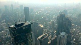 Luftpanorama von Bangkok stock video footage